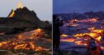 Beleza de vulcão que começou a entrar em erupção atrai turista para a Islândia