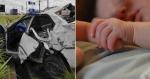 Bebê de apenas 8 dias sai ilesa de acidente envolvendo um carro e um caminhão