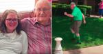 VÍDEO: Vovô de 89 anos mantém tradição e corre para se despedir de neta