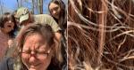 Mulher descobre que o seu cabelo serviu de esconderijo para um pequeno...
