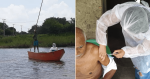 Técnica em enfermagem usa canoa para atravessar rio e vacinar idoso do outro lado
