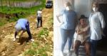 Para vacinar idoso de 102 anos, enfermeira e equipe fazem caminho com pedras