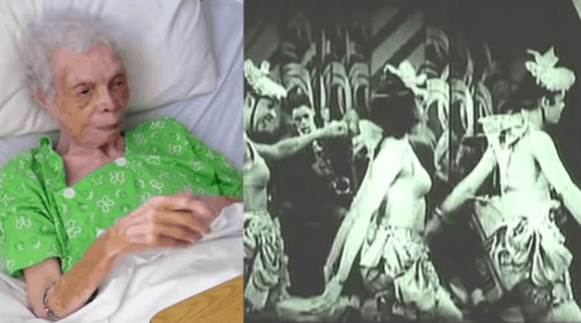 Ex-dançarina de 102 anos se vê pela primeira vez em filme e reação é emocionante
