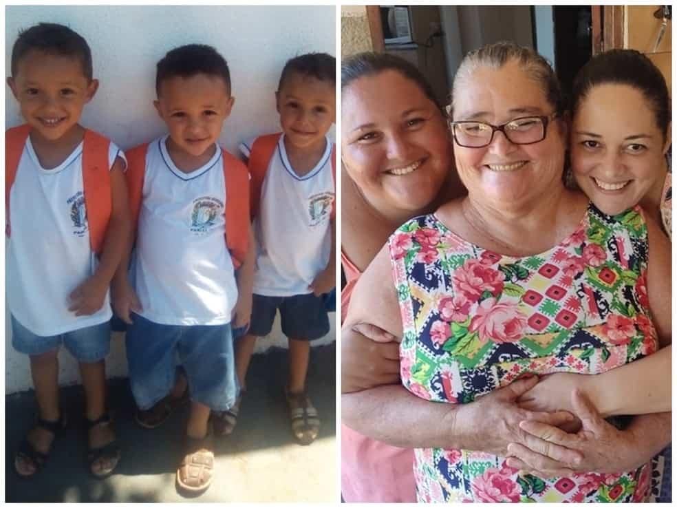 Depois de perder os pais, a avó e a tia, trigêmeos é acolhido por tio e recebe doações até do exterior