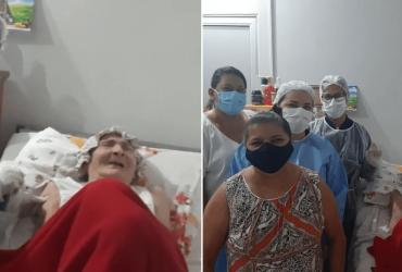 Idosa de 120 anos recebe segunda dose da vacina contra a Covid-19