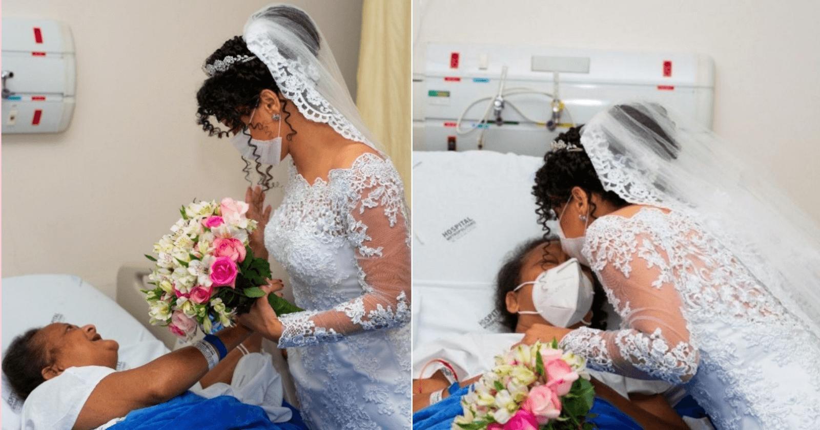 EMOCIONANTE: noiva visita mãe internada antes de se casar