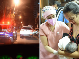 Policiais ajudam motorista com escolta e mulher dá à luz dentro do carro