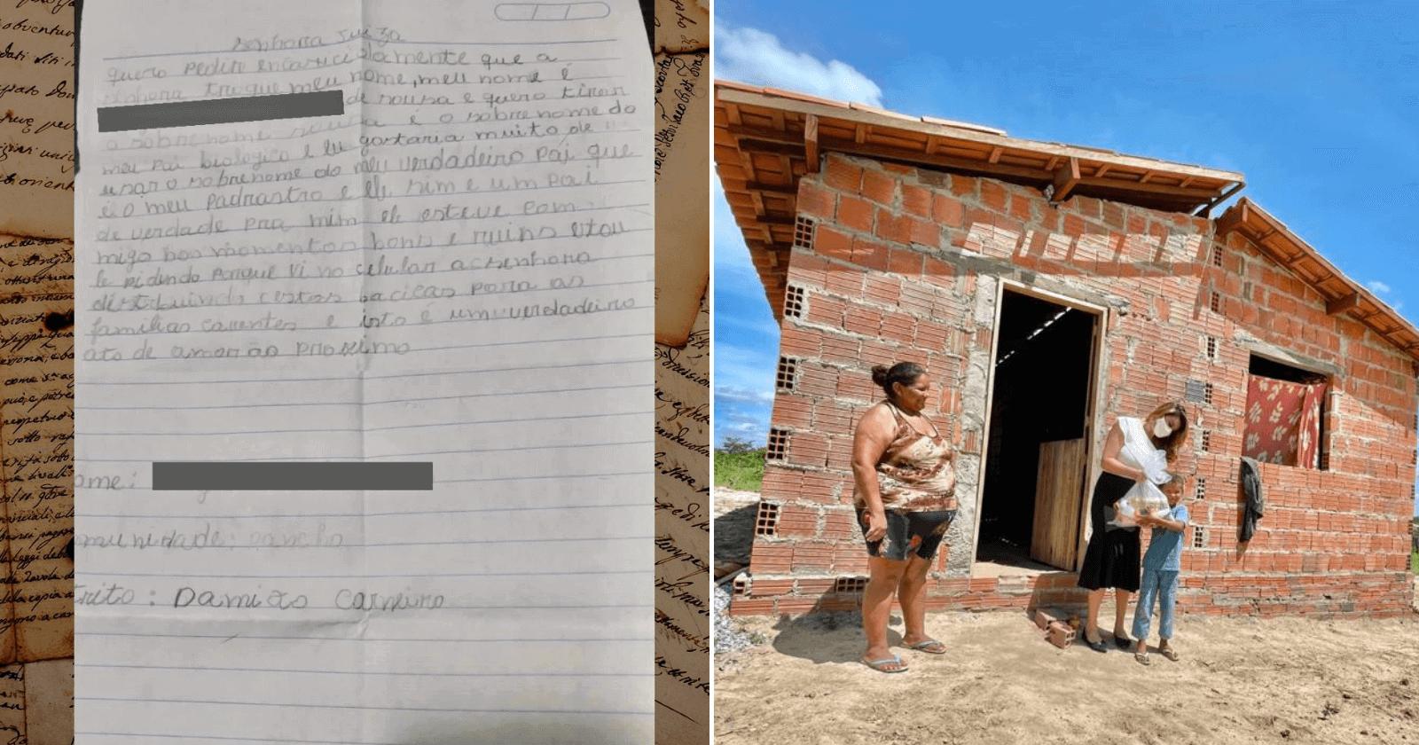 Garoto de 8 anos pede em carta que juíza troque seu sobrenome