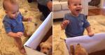 Ao ver seu presente, bebê tem a reação mais doce da web!