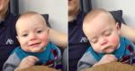 Pai coloca bebê para dormir fazendo 'truque' hilário que funciona!