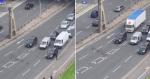 Motoristas param avenida para patinhos passarem em segurança