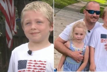 Menino de 7 anos nada por 1 hora, pede ajuda e resgata sua família de afogamento
