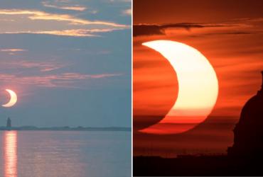 Fotos de fenômeno raro em eclipse solar encanta o mundo!