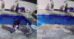 Menino de 3 anos cai na piscina e se salva usando técnica que aprendeu em aula