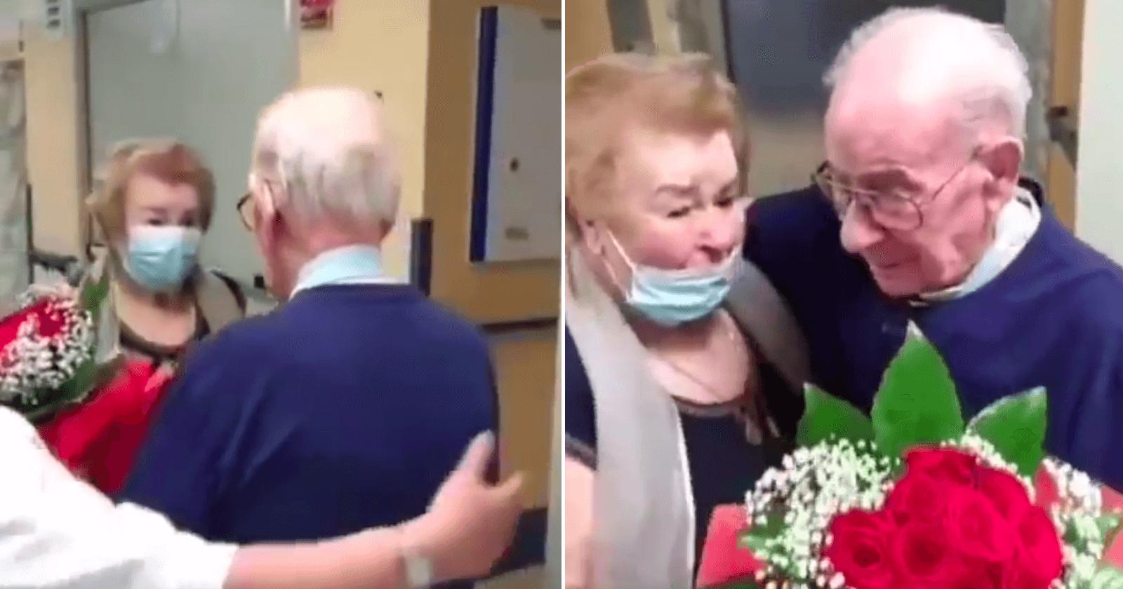 Hospital reúne casal de velhinhos e reação deles é a coisa mais pura!