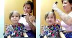 Mãe raspa cabelo do filho e ouve: 'que tanto lindo é a senhora chorando'