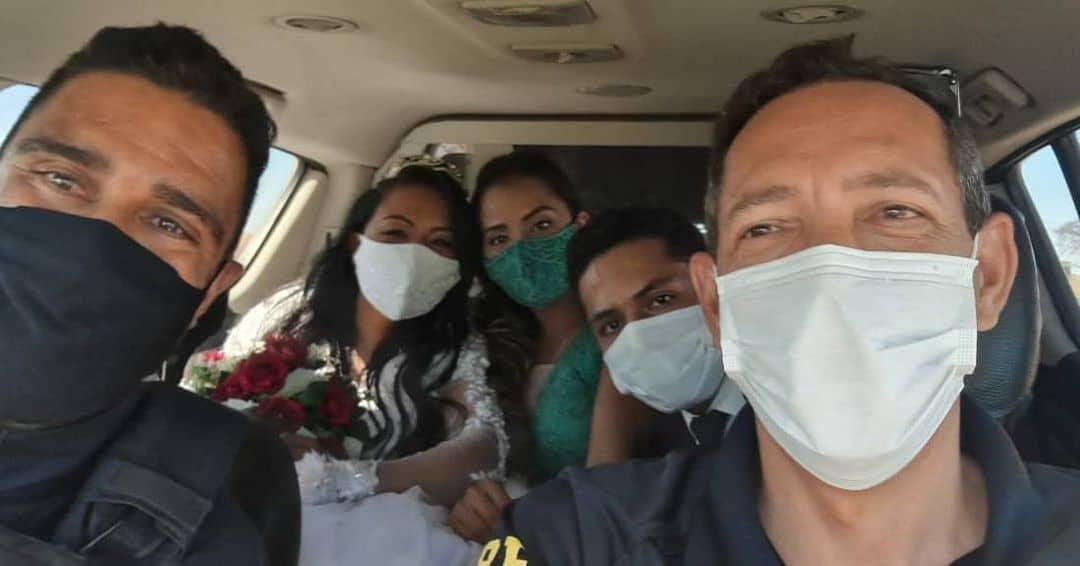 Polícia Rodoviária 'salva' noiva que quase perdeu casamento