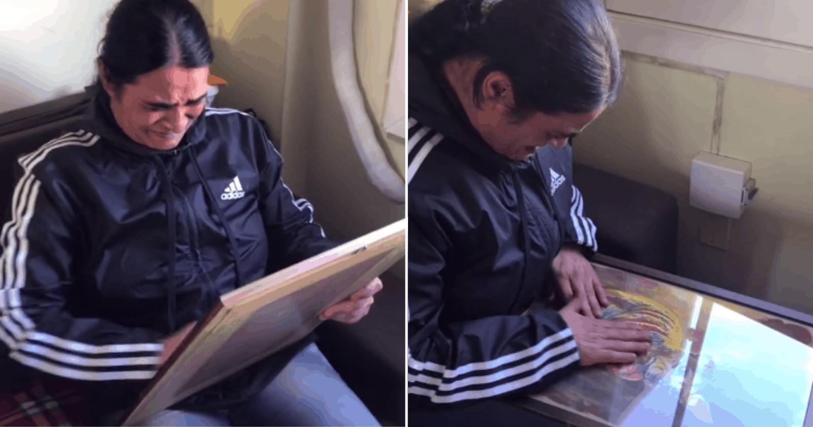 EMOCIONANTE: Filha presenteia mãe com pintura de seu falecido cachorro