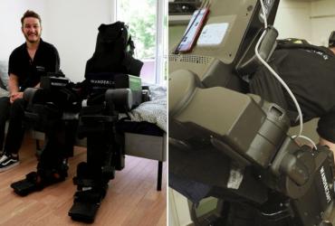 Pai cria exoesqueleto para filho deficiente se mover sozinho