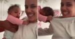 Bebê mostra força SURREAL para não sair do colo da mãe