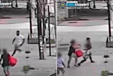 Mãe salva filho de sequestradores pela janela do carro