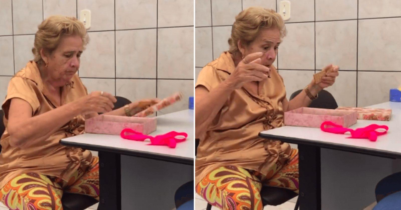 Médico presenteia idosa com 1º livro que ela leu e reação é comovente