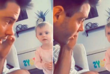 Pai finge falar com 'namorado' da filha e reação dela é ÓTIMA