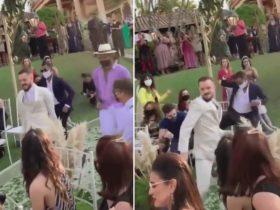 Noivo entra em seu casamento com coreografia SENSACIONAL