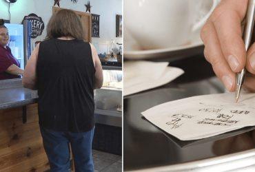 Mulher paga refeição de 60 desconhecidos e deixa gorjeta