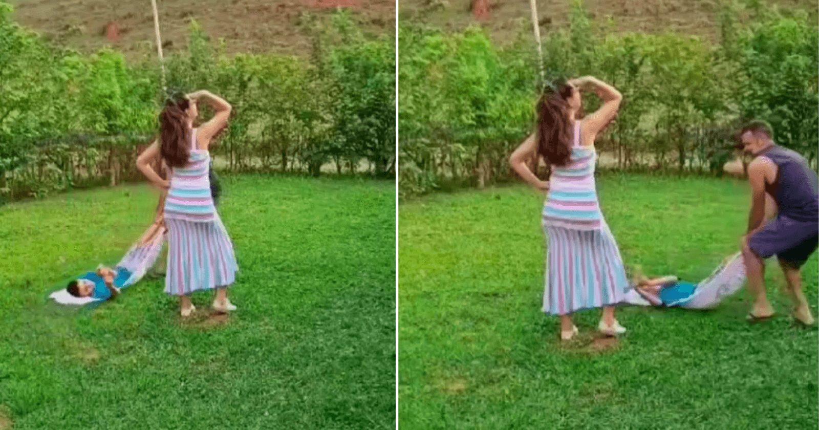 Pai e filho fazem vídeo mostrando realidade hilária das fotos da mãe