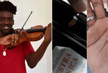 Violino serve de escudo e protege rapaz de bala perdida