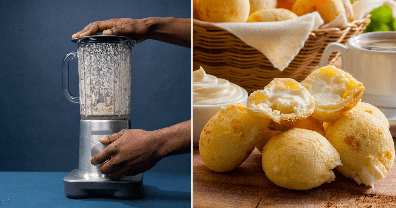Pão de queijo de liquidificador FÁCIL e prático para acabar com a fome