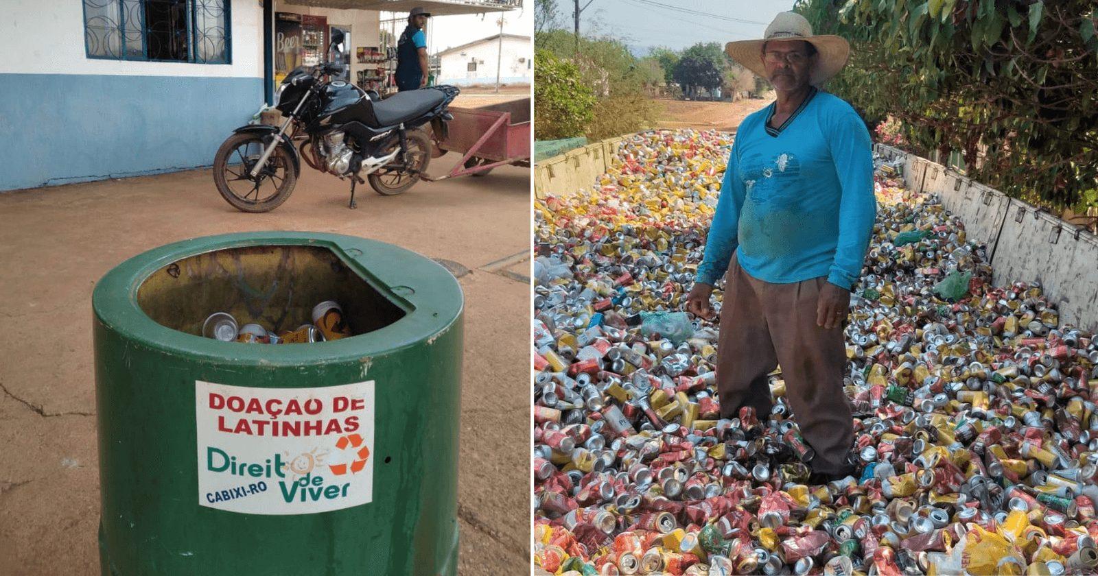 Catador de latinhas doa mais de R$140 mil para hospital do câncer
