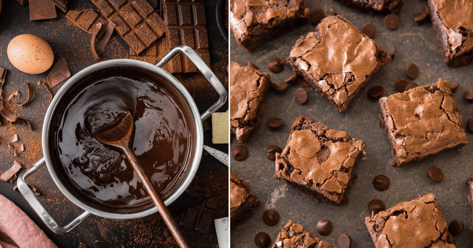 Receita de brownie com casquinha crocante FÁCIL e deliciosa