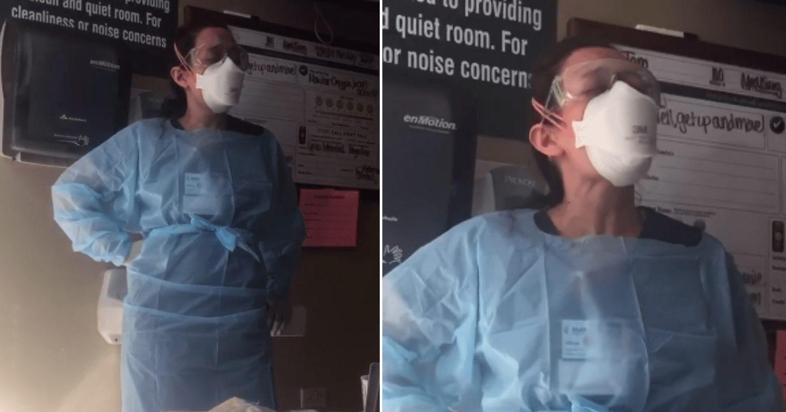 Enfermeira emociona ao cantar para paciente com Covid