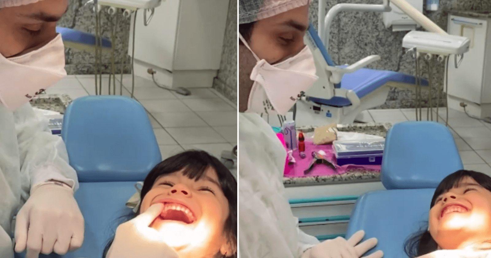 Dentista usa técnica fofa demais para distrair e acalmar crianças